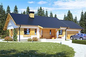 Projekt domu Julek trend z garażem 2-st. [A1]