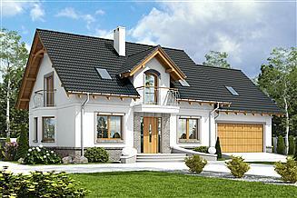 Projekt domu Dom Dla Ciebie 1 z garażem 2-st. [A1]