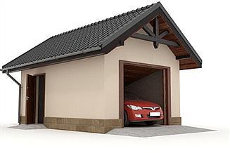 Projekt garażu W23-G1 1 stanowisko