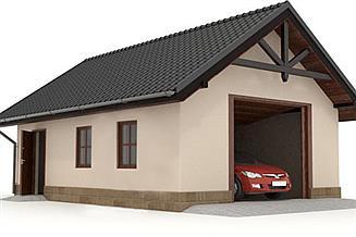 Projekt garażu W23-G3 1 stanowisko