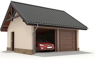 Projekt garażu W23-G4 2 stanowiska