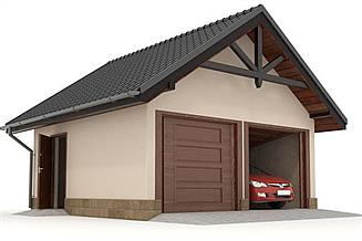 Projekt garażu W23-G5 2 stanowiska