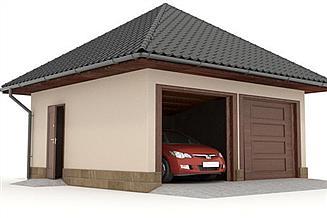 Projekt garażu W23-G6 2 stanowiska