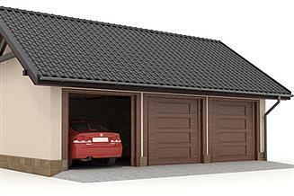 Projekt garażu W23-G7 3 stanowiska