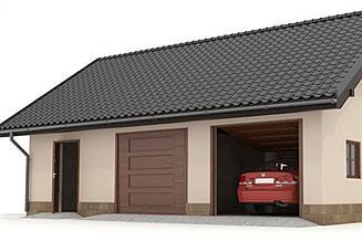Projekt garażu W23-G8 2 stanowiska