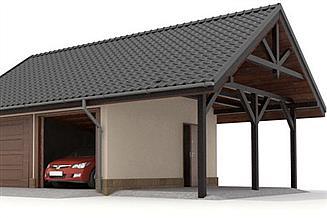 Projekt garażu W23-G10 2 stanowiska