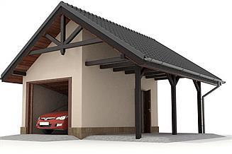 Projekt garażu W23-G11 2 stanowiska
