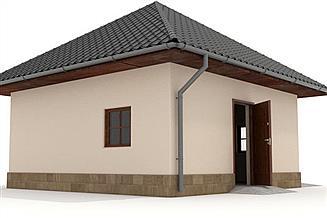 Projekt budynku gospodarczego W23-G13