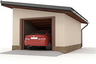 Projekt garażu W23-G14 1 stanowisko