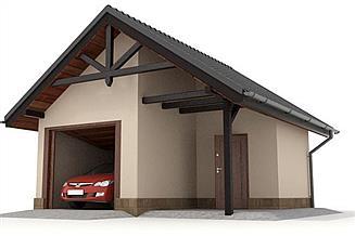Projekt garażu W23-G15 1 stanowisko