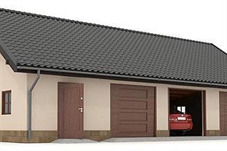 Projekt garażu W23-G18 3 stanowiska