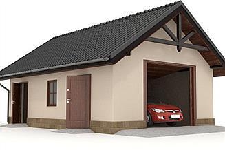 Projekt garażu W23-G19 1 stanowisko