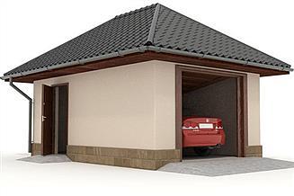 Projekt garażu W23-G2 1 stanowisko