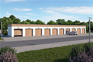 Projekt garażu G343 garaż dziesięciostanowiskowy