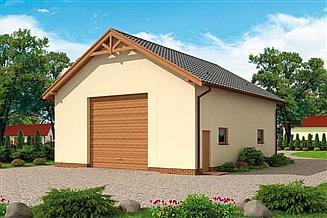 Projekt budynku gospodarczego G228C budynek gospodarczy