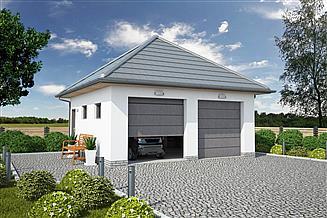Projekt budynku gospodarczego G330E budynek gospodarczy