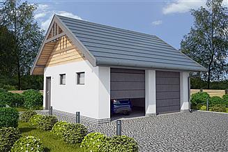 Projekt budynku gospodarczego G330C budynek gospodarczy