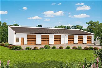 Projekt budynku gospodarczego G271 szkielet drewniany budynek gospodarczy