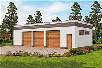 Projekt budynku gospodarczego G270 szkielet drewniany budynek gospodarczy