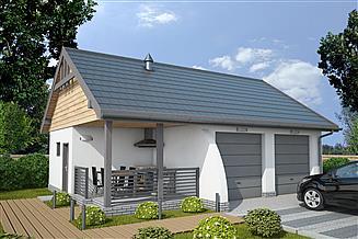 Projekt budynku gospodarczego G42a budynek gospodarczy