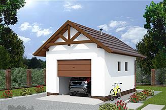 Projekt budynku gospodarczego G10a budynek gospodarczy