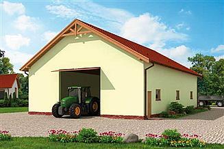 Projekt budynku gospodarczego G229B budynek gospodarczy