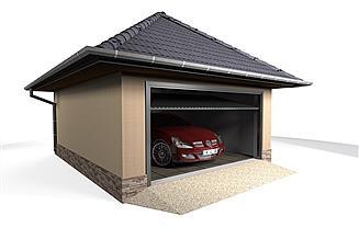 Projekt garażu W23-G17 1 stanowisko