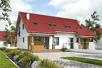 Projekt domu Agat II bez garażu bliźniak [B-BL2]