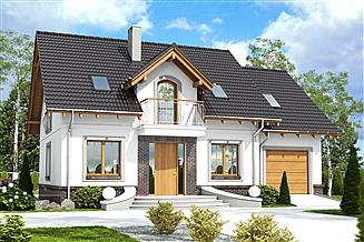 Projekt domu Dom Dla Ciebie 5 z garażem 1-st. [A2]