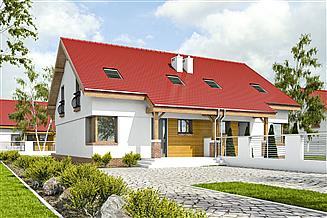 Projekt domu Agat II bez garażu bliźniak [B-BL1]