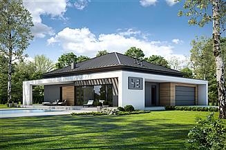 Projekt domu Otwarty D42 wariant II
