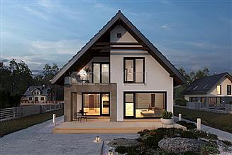 Projekt domu Dominik As - murowana – beton komórkowy