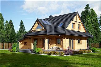 Projekt domu Jodłownik 13g dw