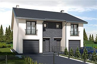Projekt domu Konrad - bliźniak - LLL