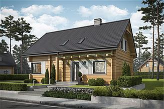 Projekt domu Trypolis 5 projekt domu z bali drewnianych