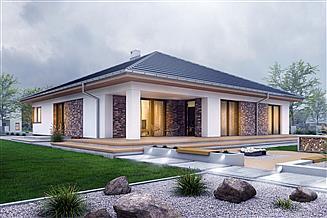 Projekt domu Pogodna z garażem 2-st. [A]