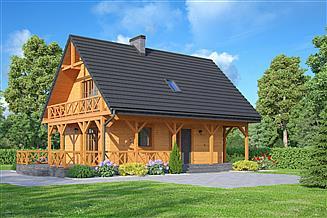 Projekt domu Bartnowice dws