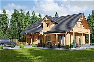 Projekt domu Osiek 43x dws