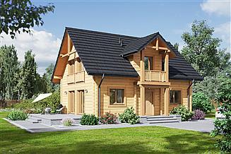 Projekt domu Paczków 3 dw