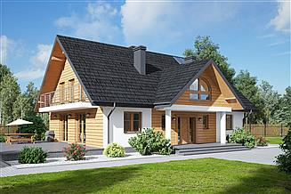 Projekt domu Podsarnie 1mk