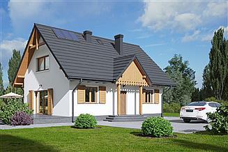 Projekt domu Hoczew średnia 21 dws