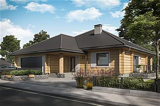 Projekt domu Alexandria projekt domu z bali drewnianych