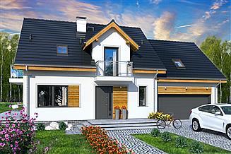 Projekt domu Jaskółka 6 z garażem 2-st.