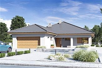 Projekt domu Cyrus IV z garażem 2-st. [A]