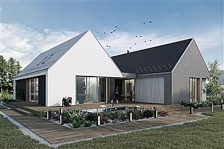 Projekt domu Dwie bryły 03