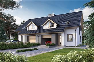 Projekt domu Eco 15 dwulokalowy