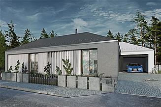 Projekt domu Dwie bryły 04