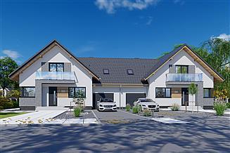 Projekt domu APS 209 NEW dwulokalowy
