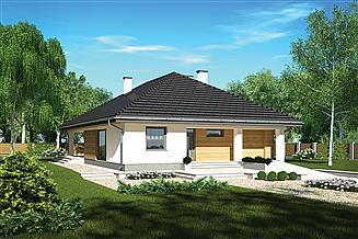 Projekt domu Murator M212d Piasek pustyni - wariant IV