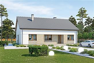 Projekt domu Murator M241b Wyjątkowy - wariant II